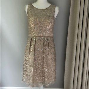 Jenny Yoo metallic lace dress